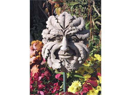 Charmant Green Man Garden Plaque