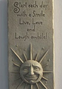 A Smile A Day Garden Plaque
