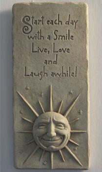 add to cart a smile a day garden plaque - Garden Plaques