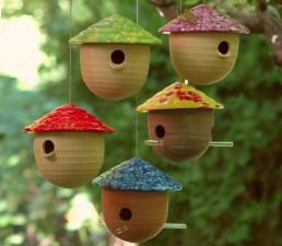 Ceramic Gourd Bird Houses