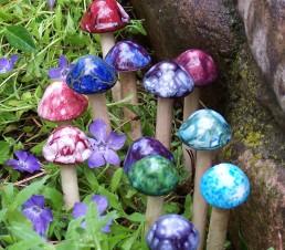 Ceramic Micro Mushrooms