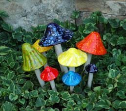 Ceramic Mushrooms