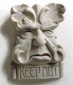 Keep Out Garden Plaque