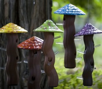 Mushroom Bird Feeder Natural