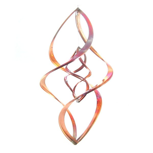 "Double Infinity 16"" Copper Wind Sculpture"