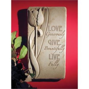 Live Fully Garden Plaque