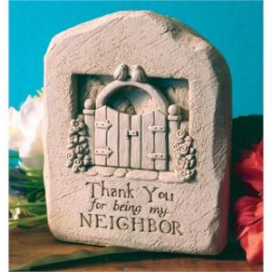 Thank You Neighbor Garden Plaque