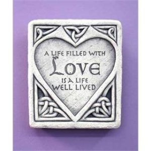 Celtic Love Stone Garden Plaque